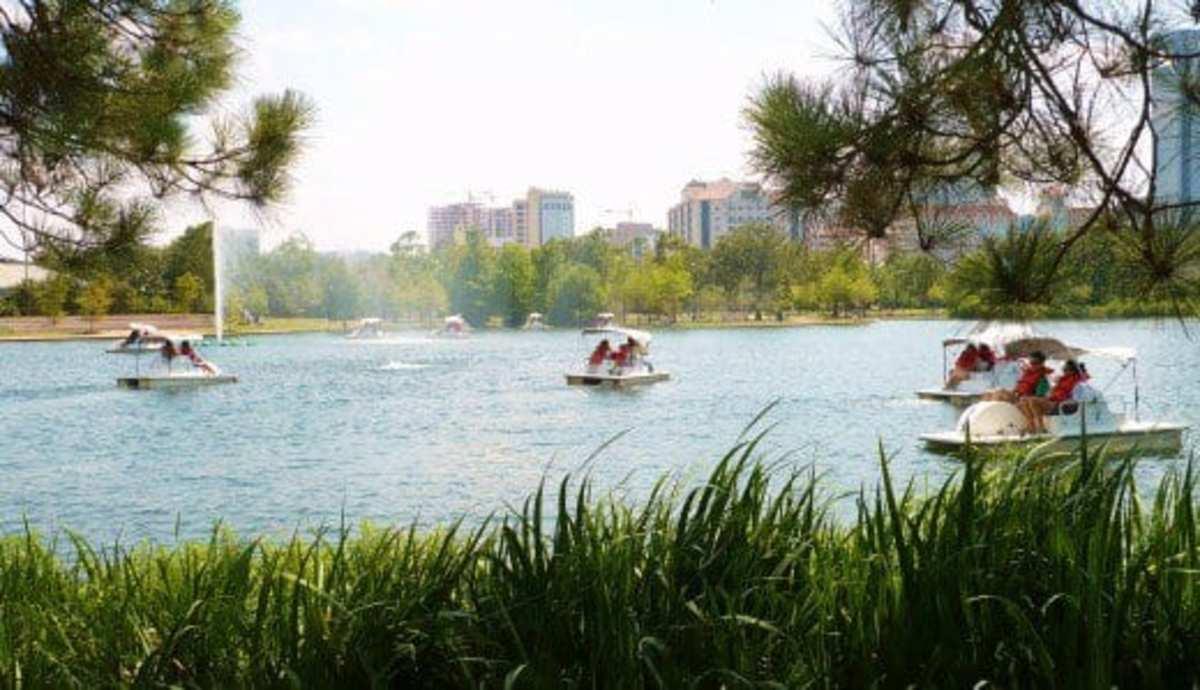 McGovern Lake in Hermann Park