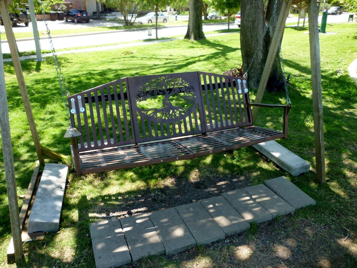 Swinging Bench in Mandell Park