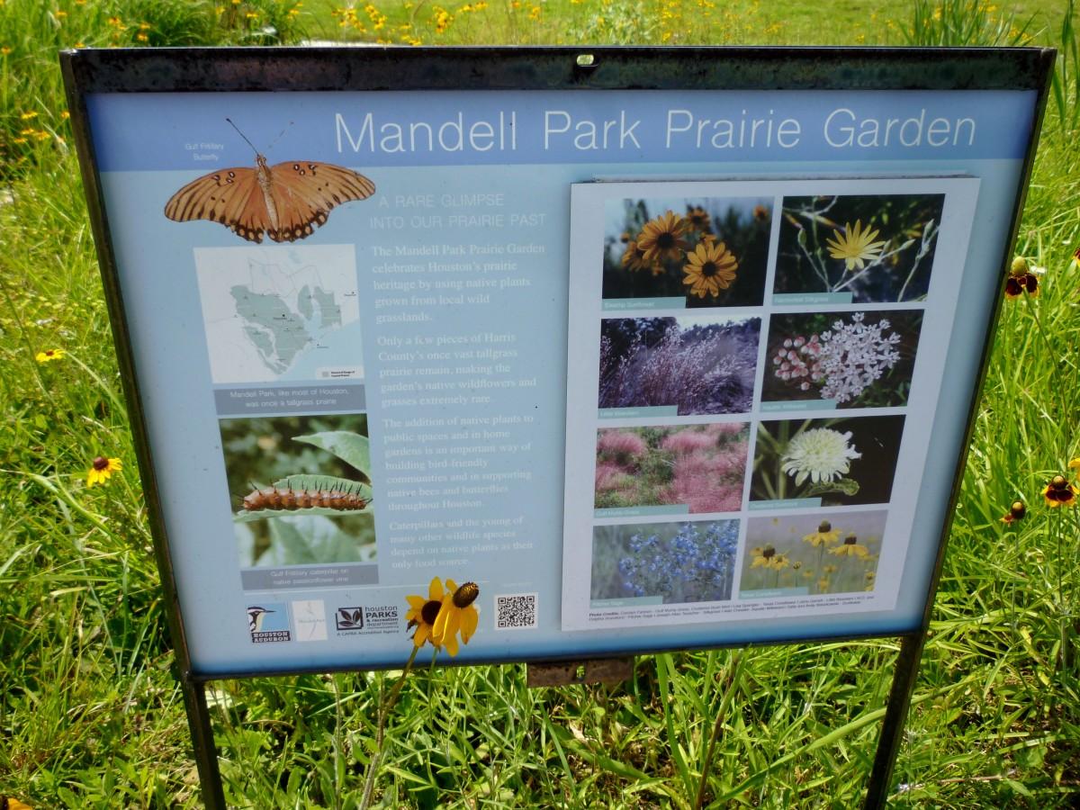 Mandell Prairie Garden Wildflowers Sign