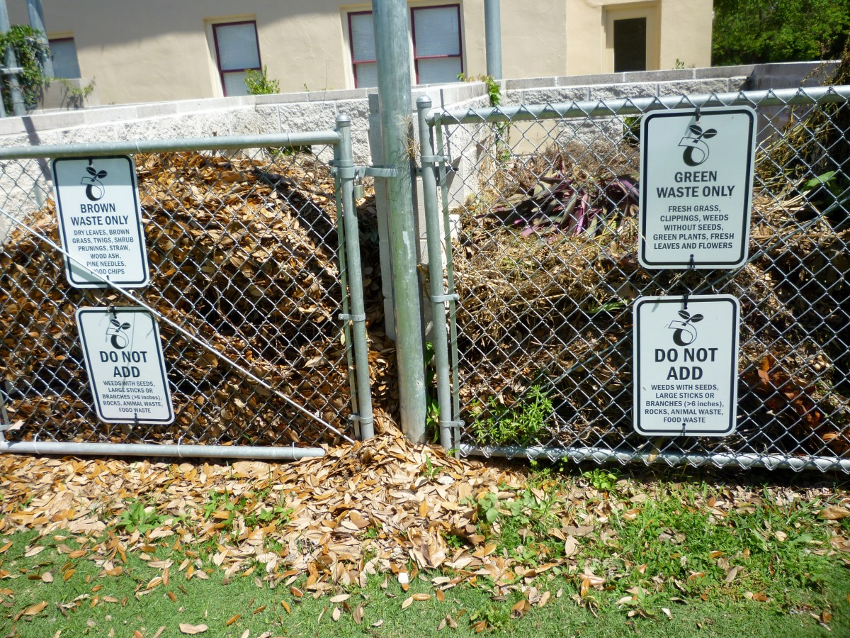 Compost Areas in Mandell Park