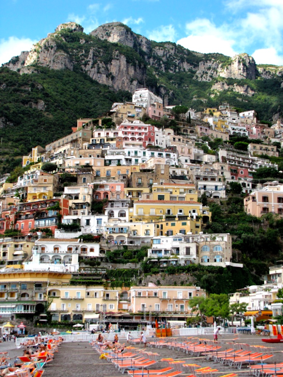Positano from Marina Grande Beach