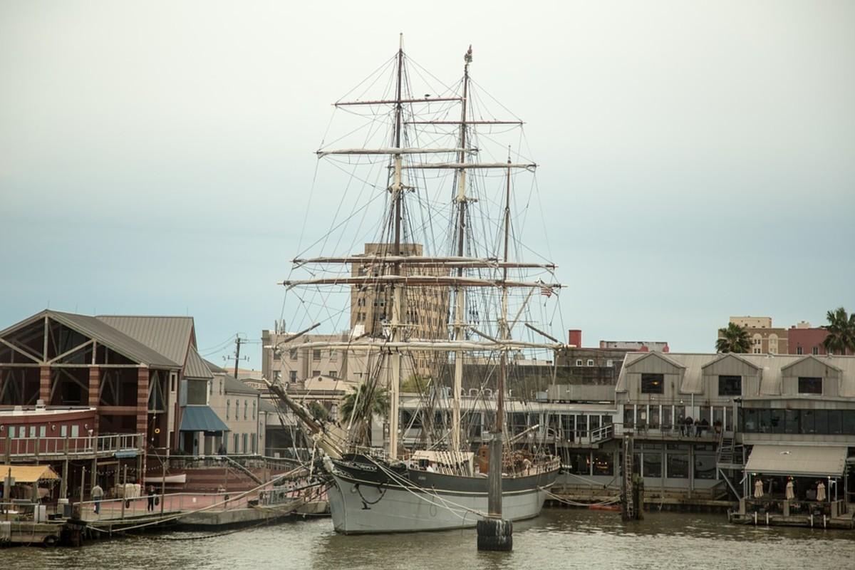 The Tall Ship Elissa in Galveston