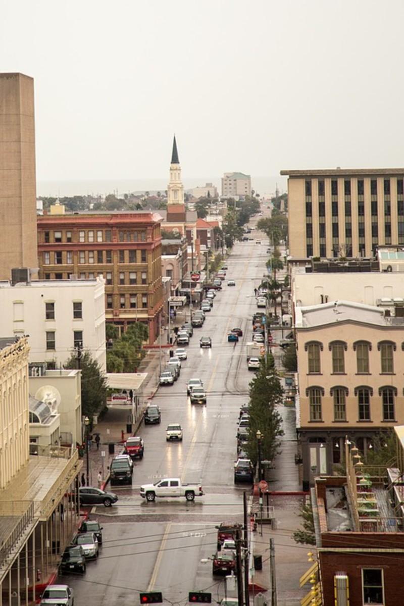 Street Scene in Galveston