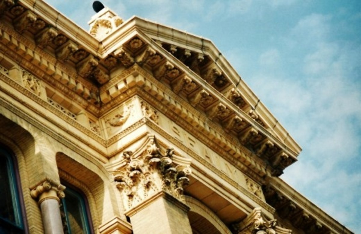 Detailing on Sealy building