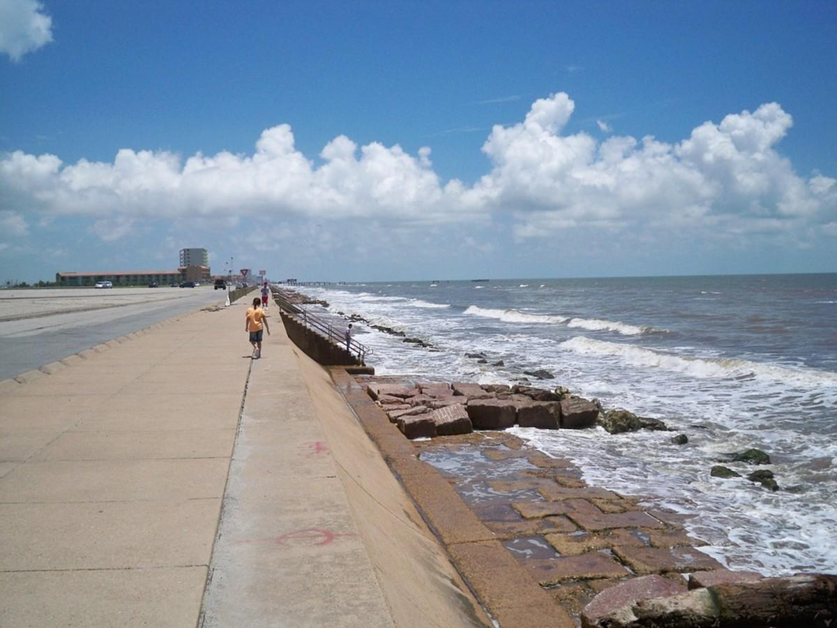 Galveston shoreline
