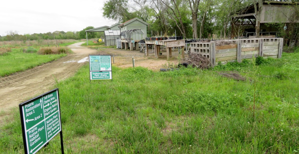 Seabourne Creek Nature Park nursery and greenhouse for growing native plants.