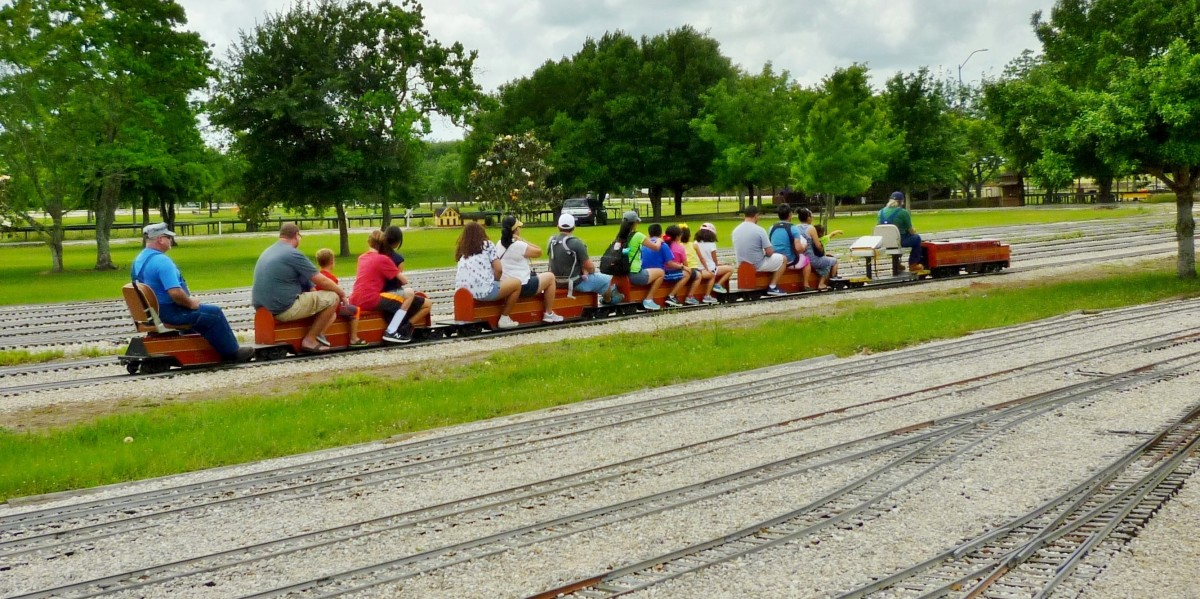The train ride in the park