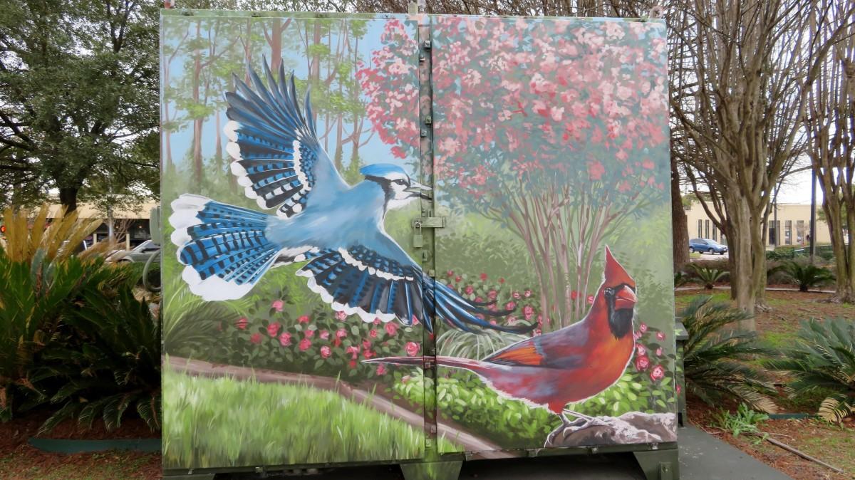 Mini Mural near Metro Bellaire Transit Center