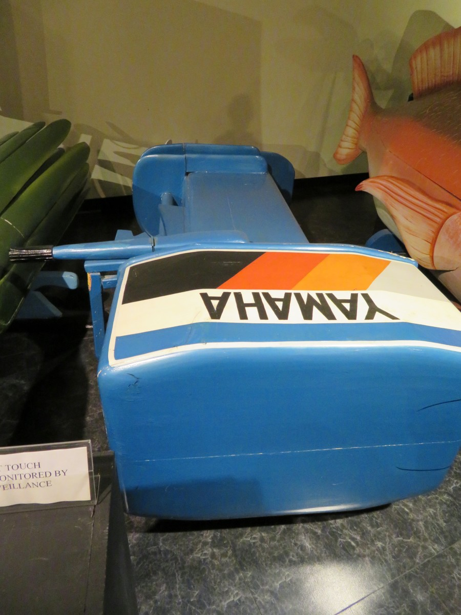 Yamaha Outdoor Motor Coffin at the National Museum of Funeral History