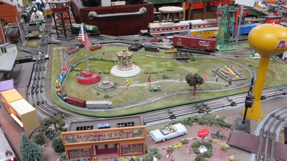 This tiny park is supposed to represent the miniature train in Hermann Park.