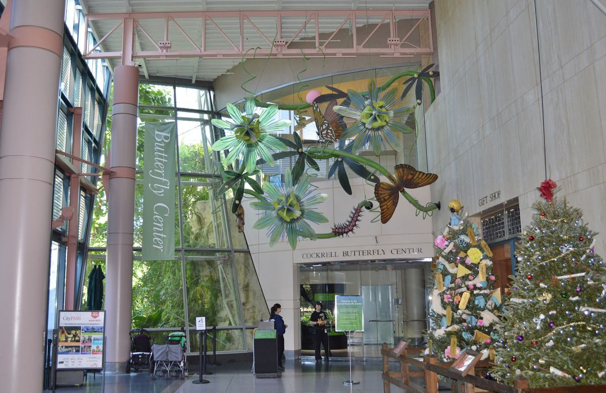 Entrance to the butterfly center