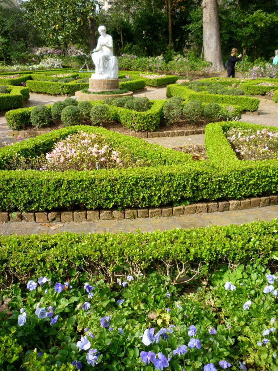 Formal beds in Clio garden