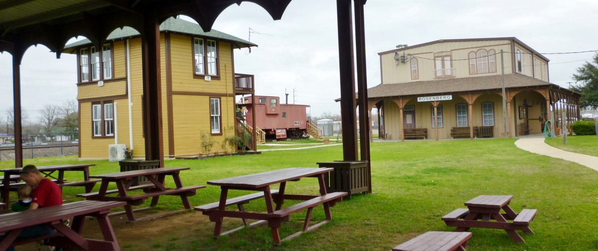 Outdoor grounds with picnic tables