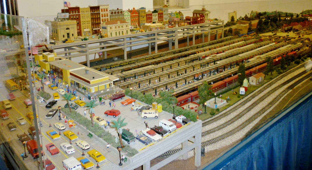 H.O. scale model train display