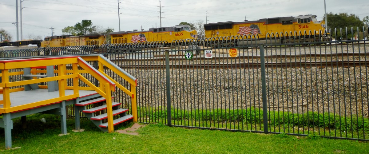 Viewing platform from which to watch passing trains