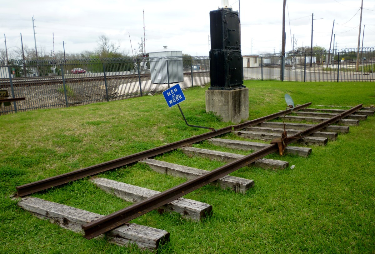 Outdoor grounds at the Rosenberg Railroad Museum