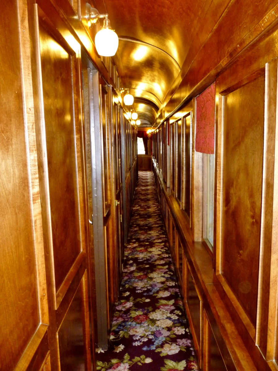 "Hallway inside of ""Quebec' Rail Car"