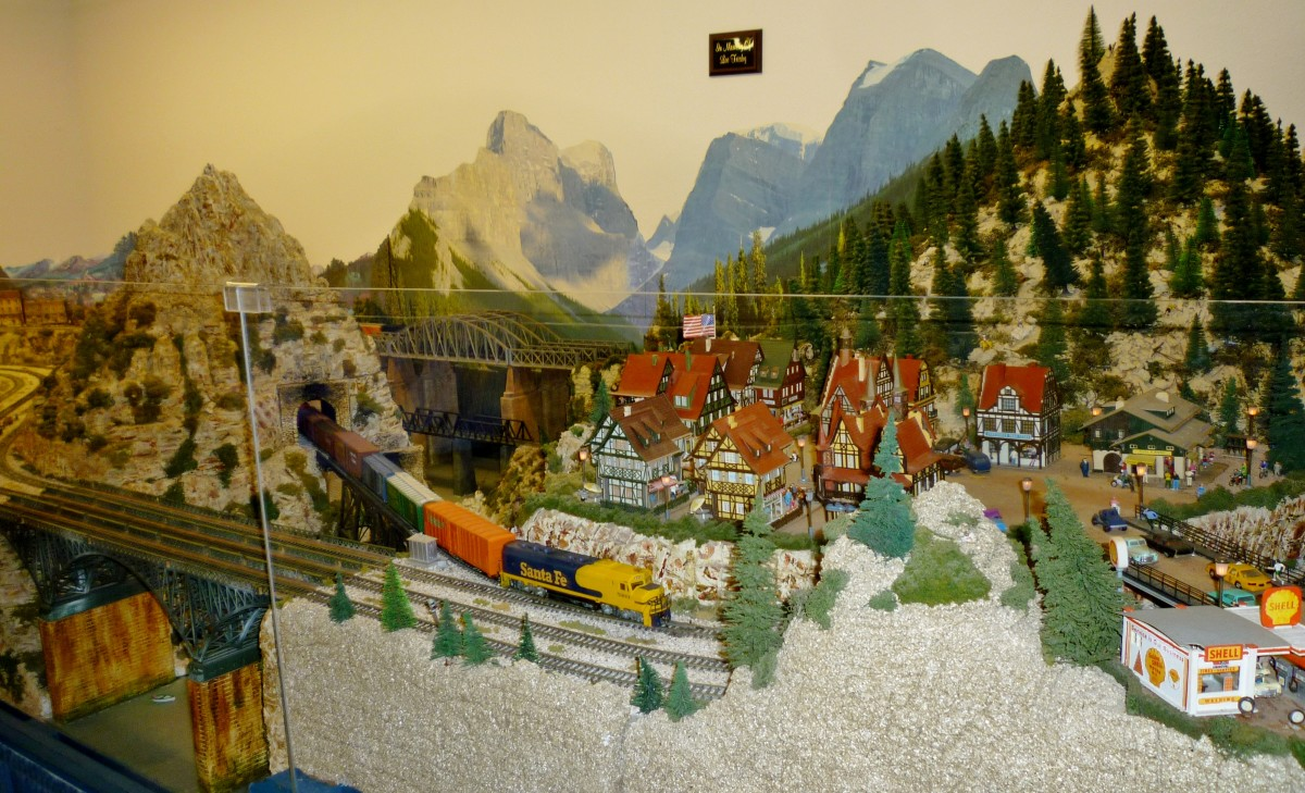 H.O. scale model train display at the Rosenberg Railroad Museum