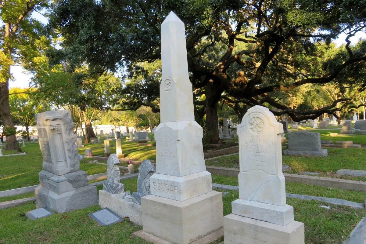 Seegar Monuments in Washington Cemetery