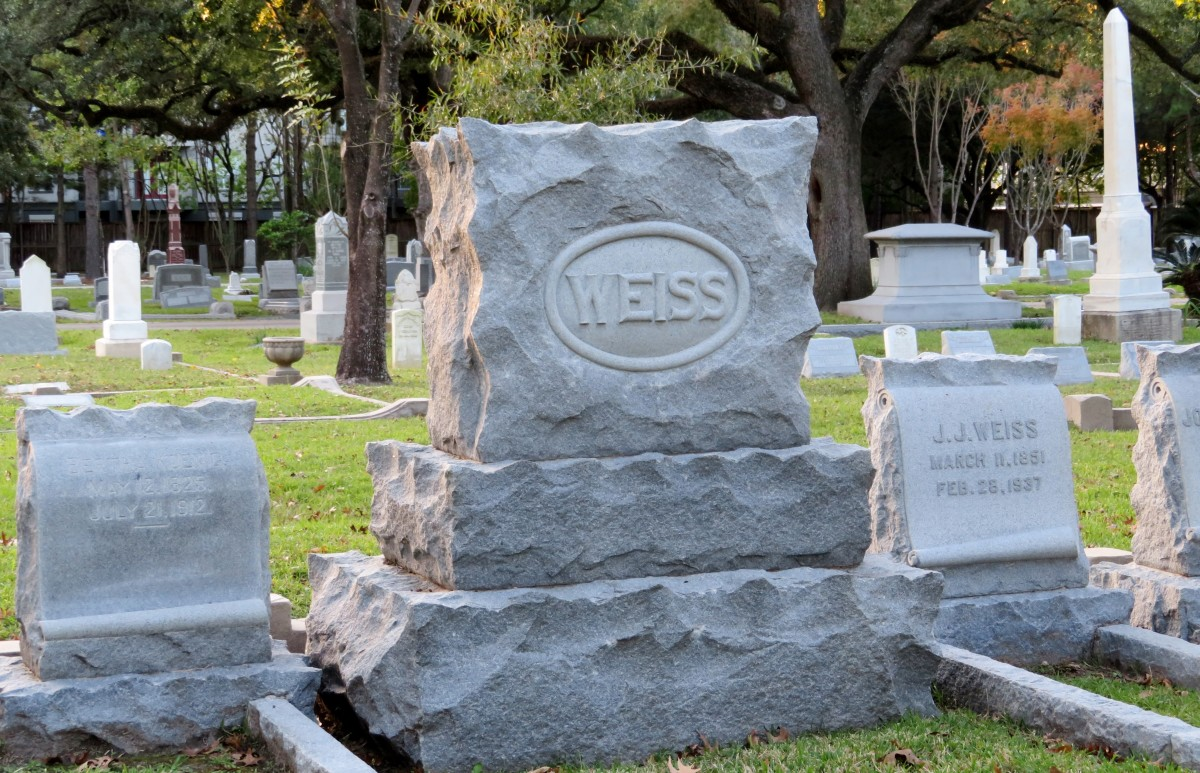 Weiss Family Plot in Washington Cemetery