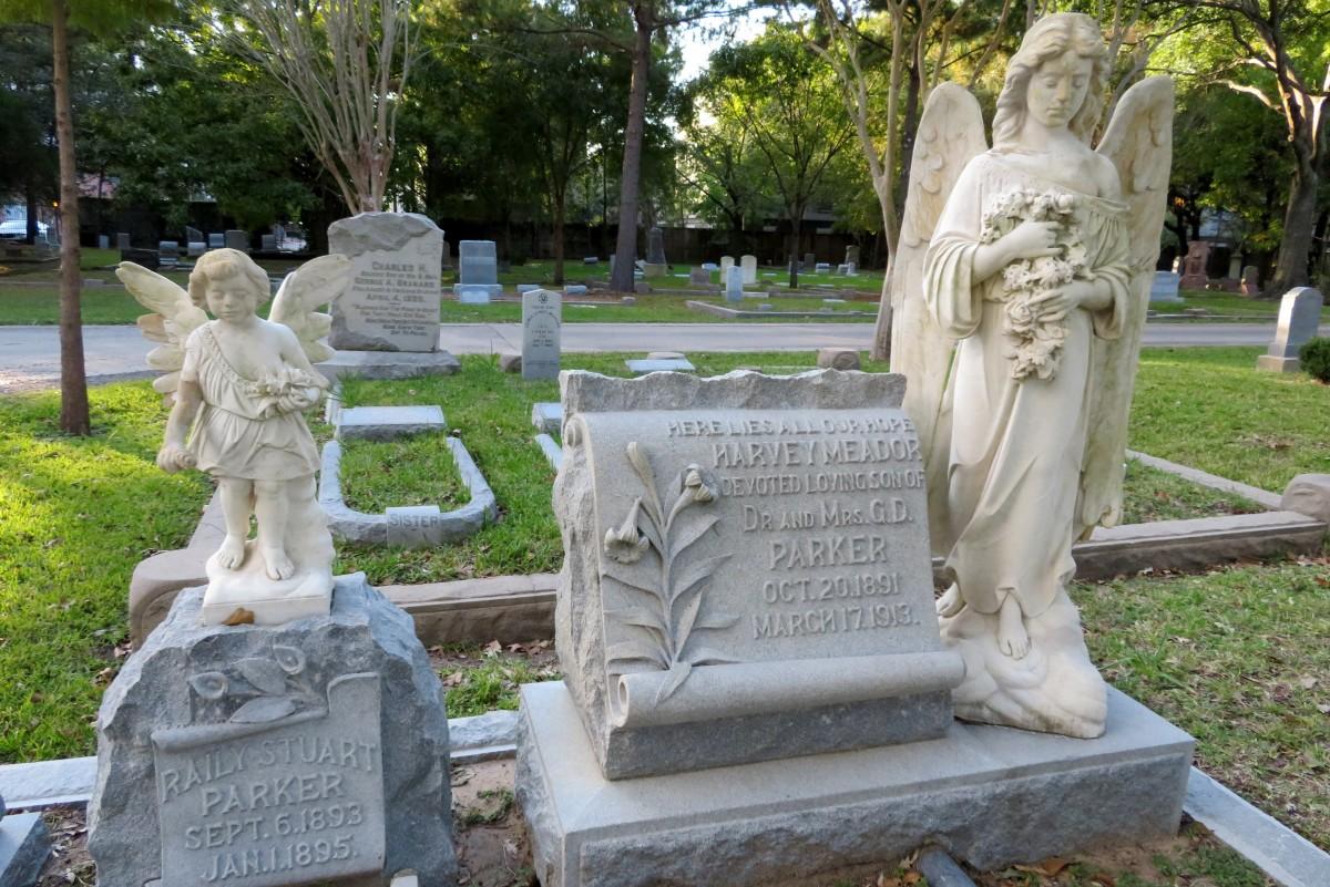 Parker Monuments in Washington Cemetery, Houston, Texas
