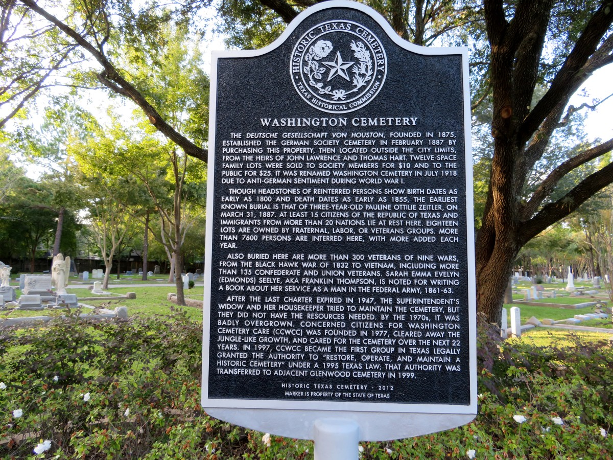 Washington Cemetery Historical Marker