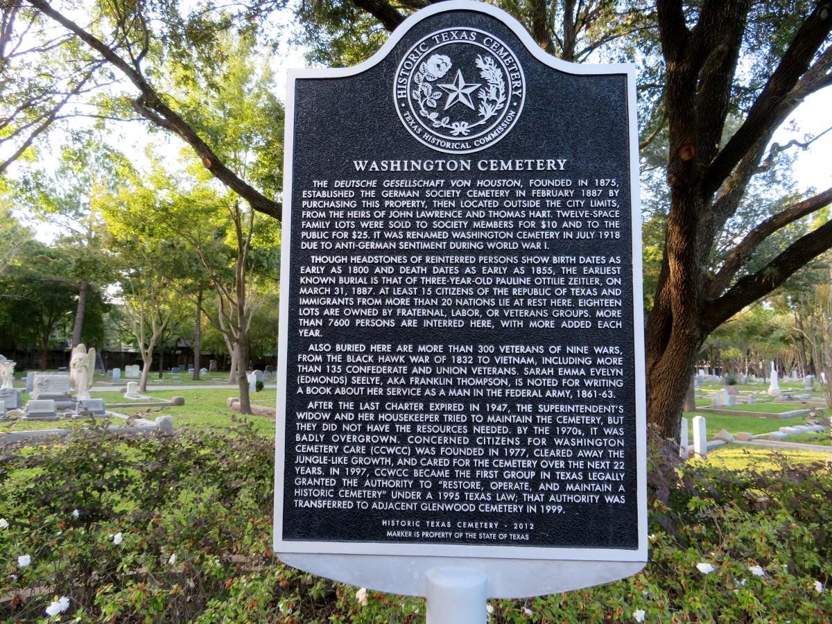Washington Cemetery Historical Marker