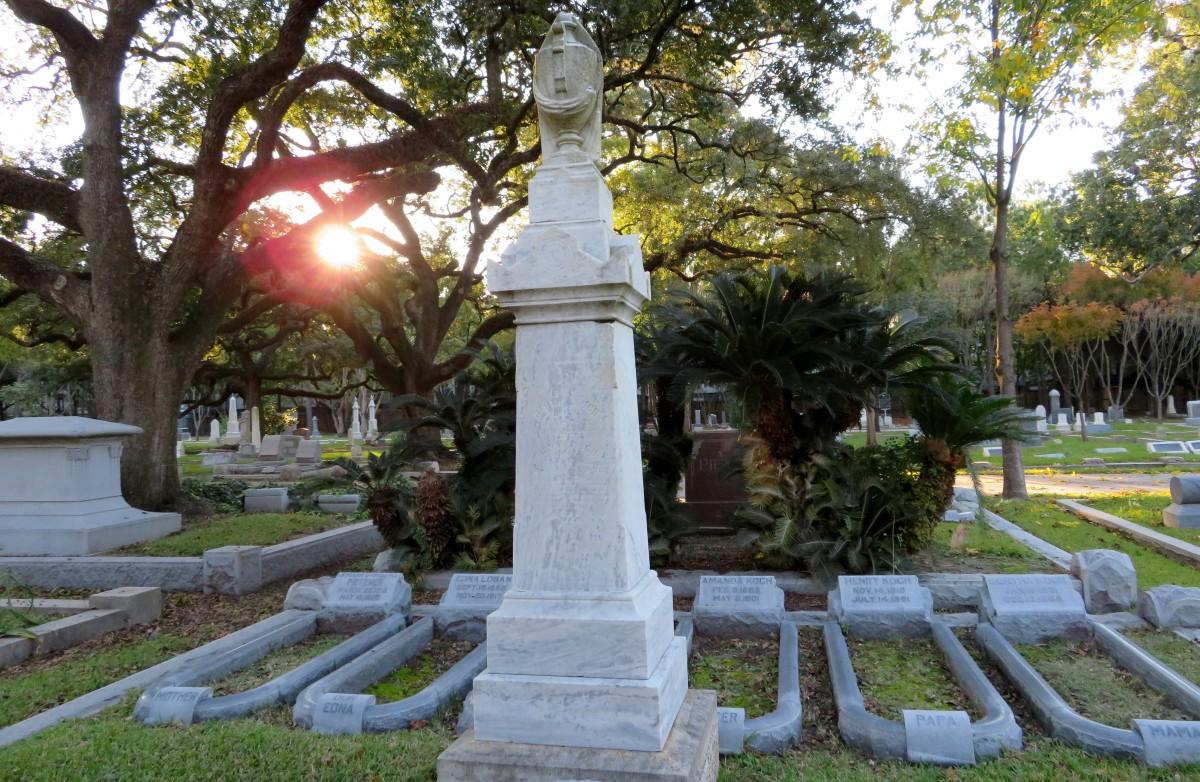 Koch Family Graves in Washington Cemetery
