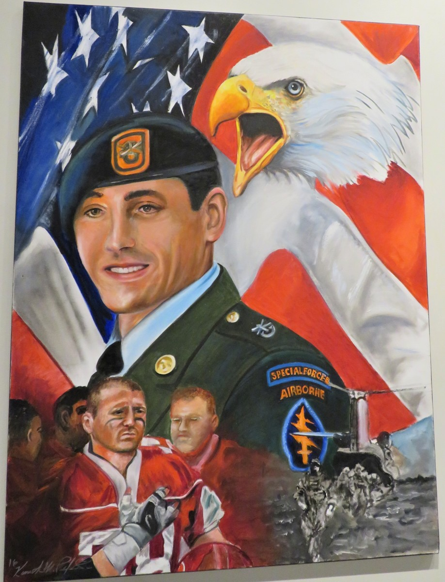 At the Fallen Warriors Memorial Gallery: SSG Jeremie S. Border from Mesquite, TX. He served in Operation Enduring Freedom.