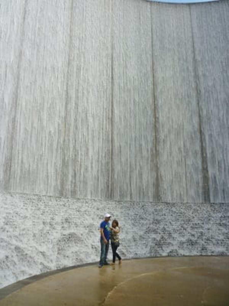 Cascading water inside Williams Waterwall
