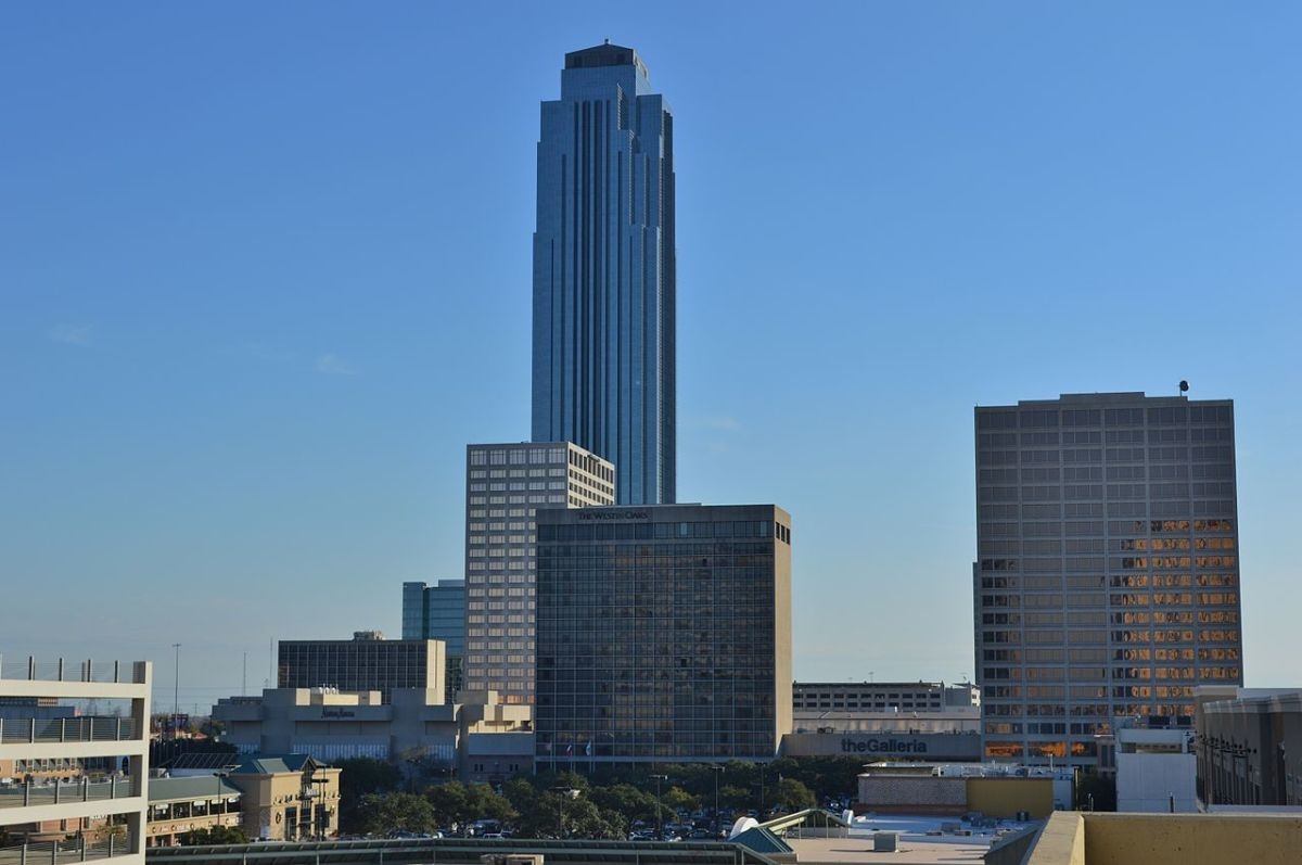 Williams Tower with part of the Galleria in foreground