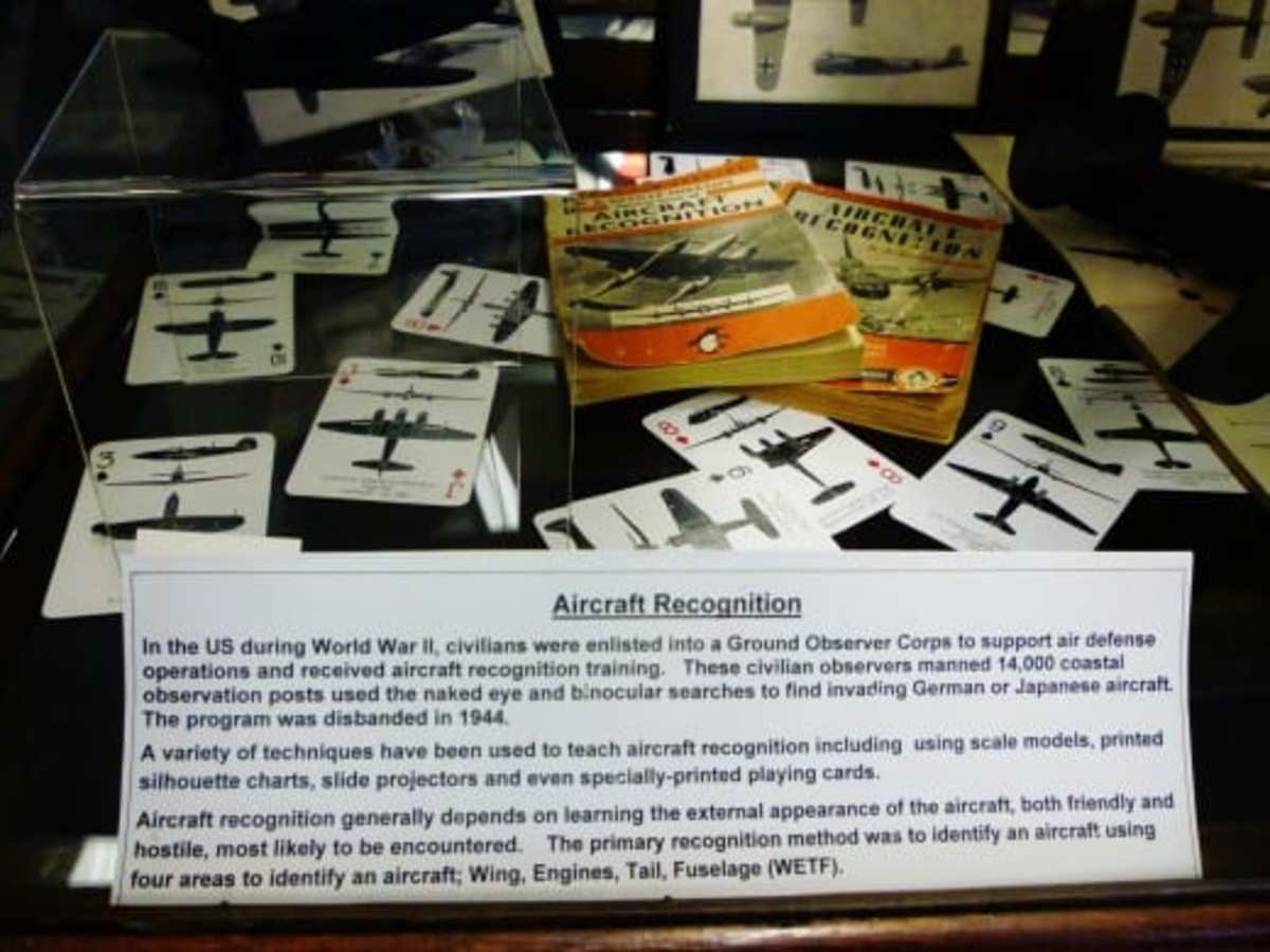Ways that civilians could identify enemy aircraft.