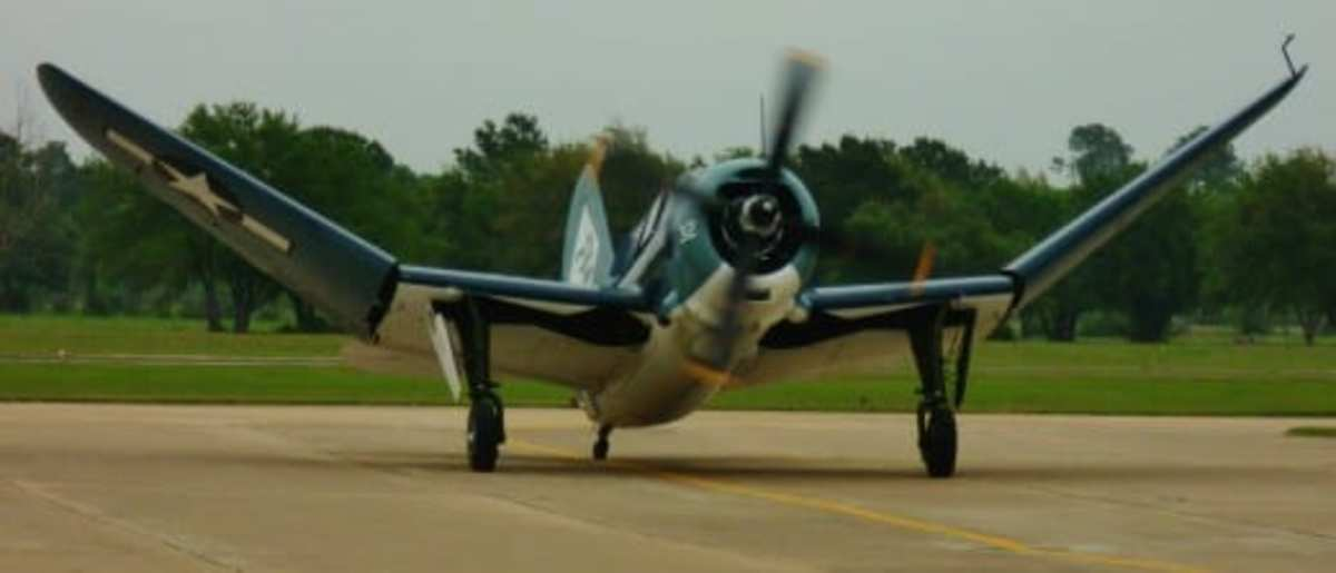 Helldiver after landing and starting to fold its wings.