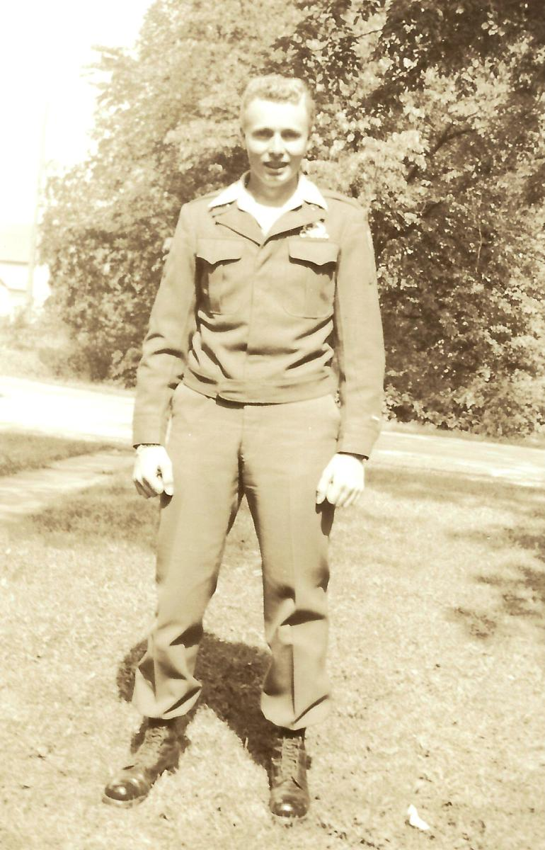 My dad in uniform