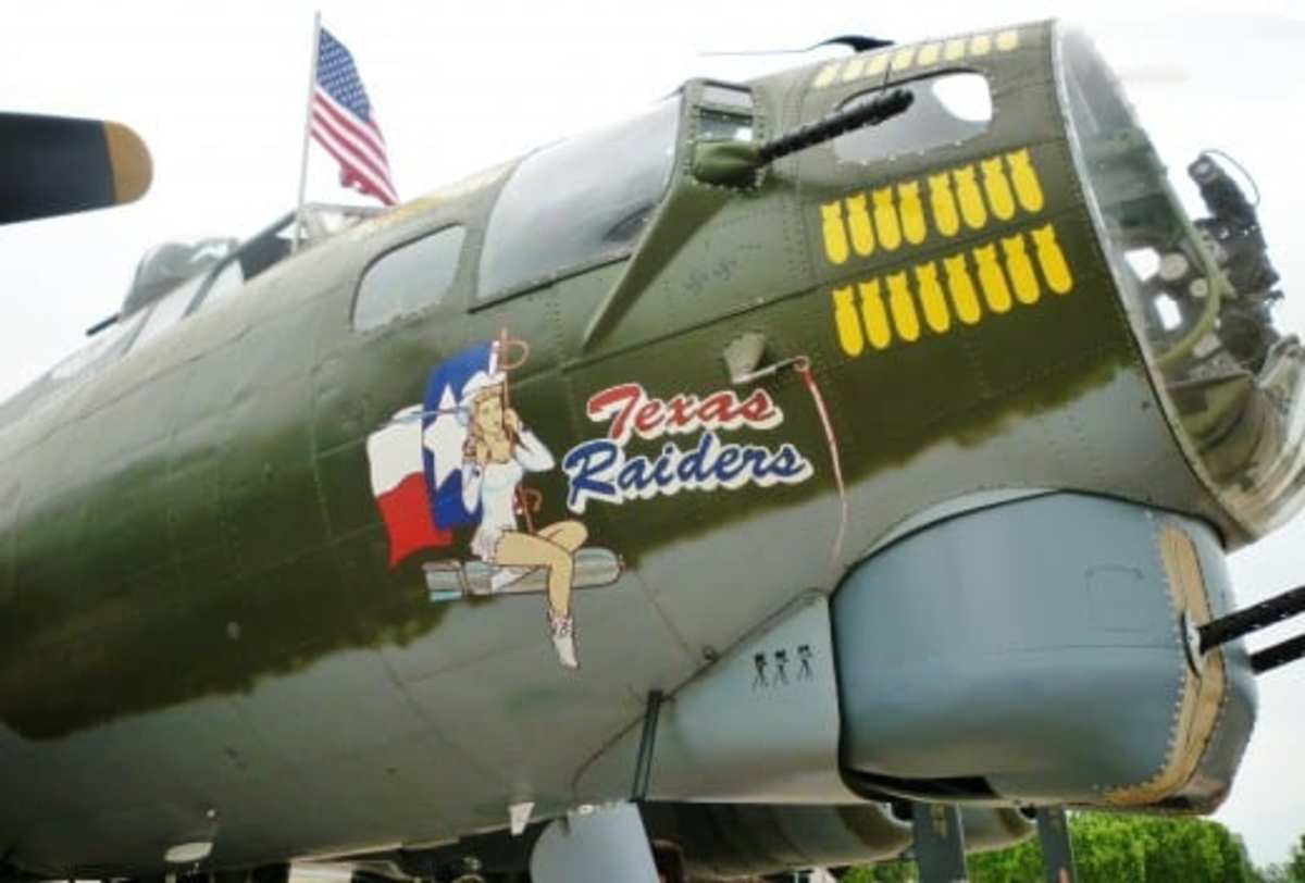 Nose art on a B-17 bomber