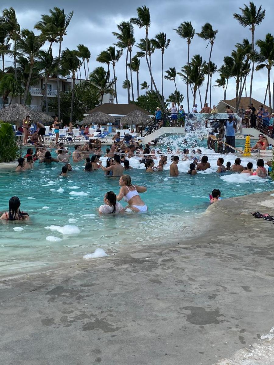 Daily 4:30 pm Foam Party in the main pool. Ahhh, to be young again.