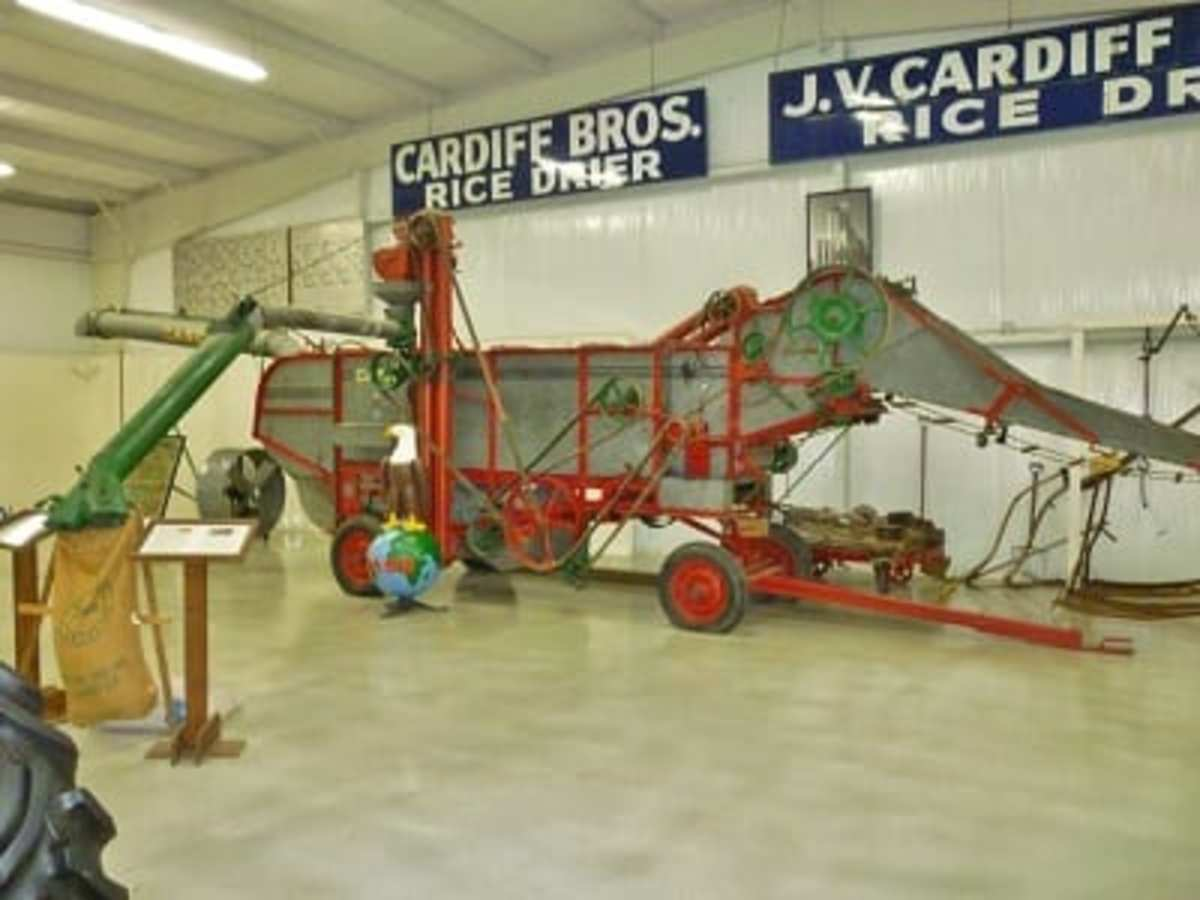 Large harvesting equipment in museum