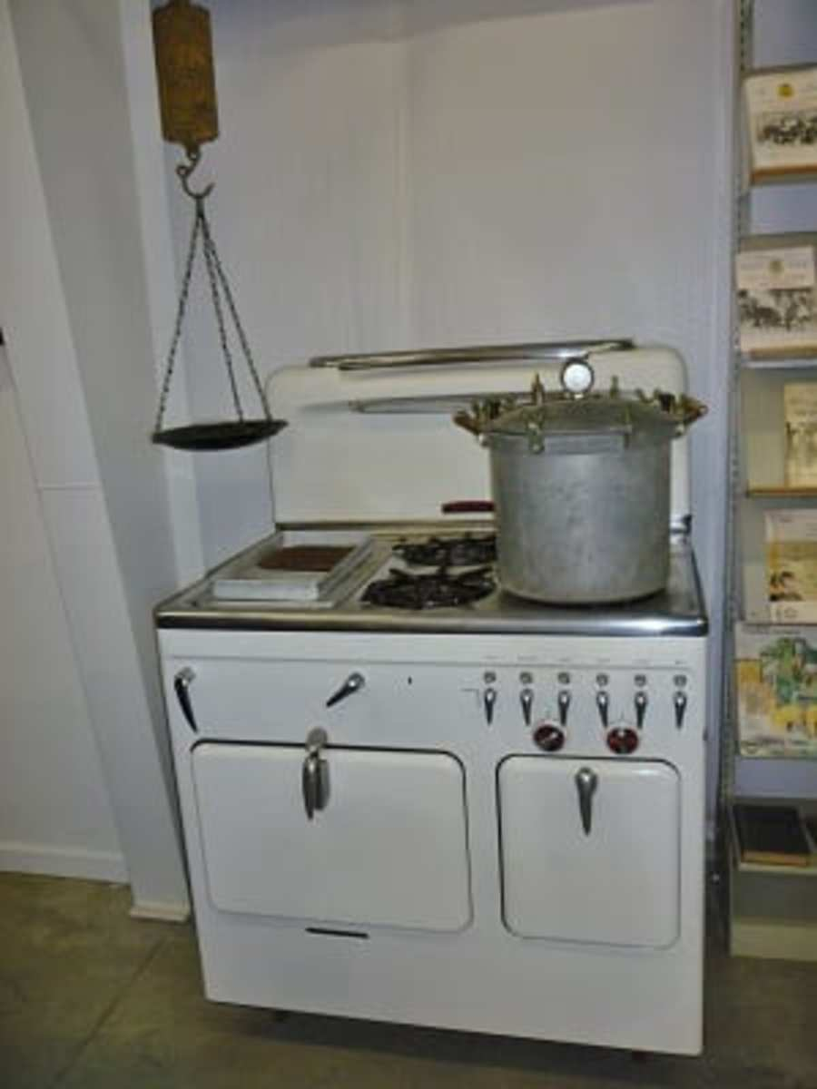 Old stove and oven