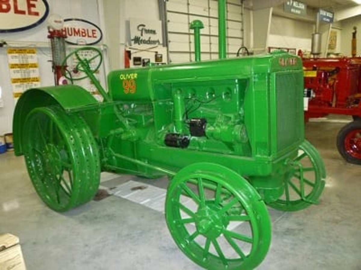 Oliver 99 Tractor at Katy Heritage Museum