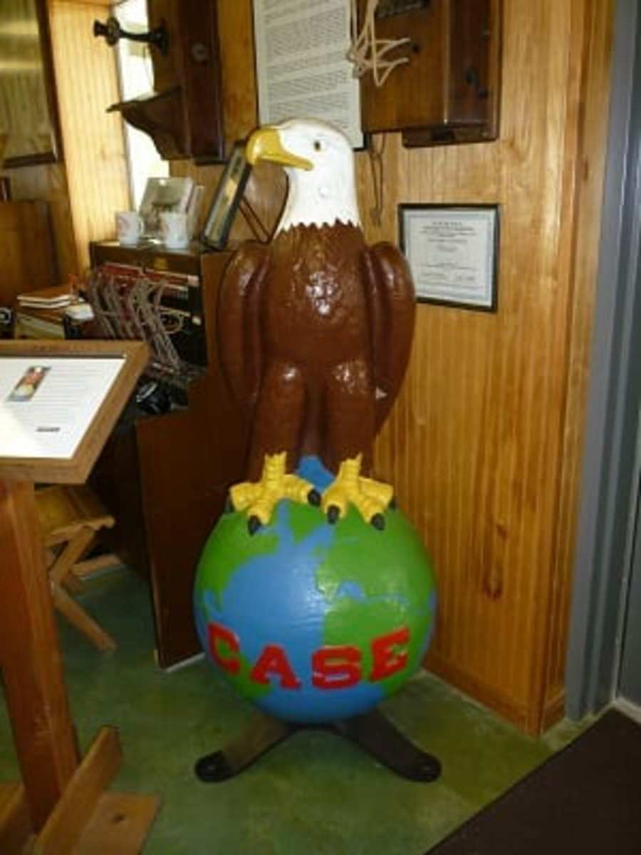 """The Eagle called """"Old Abe"""" was the J.I. Case Co. trademark for 104 years."""