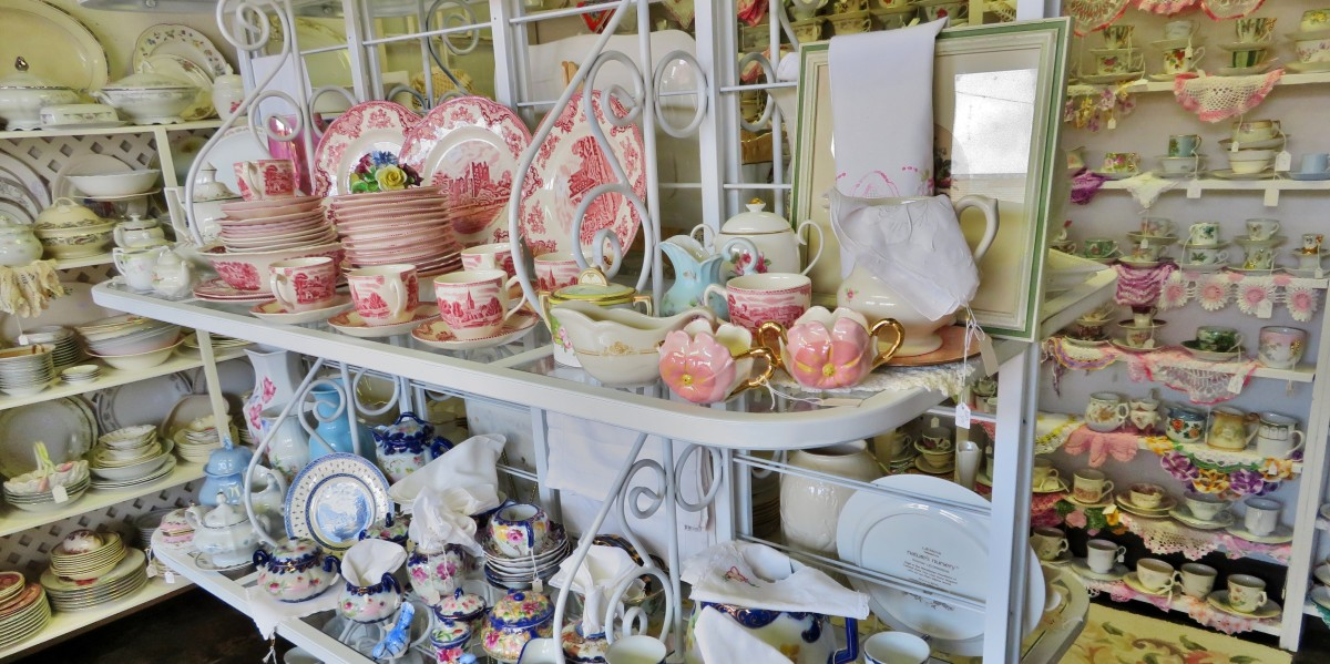 China and teacup room at the Red Queen's Attic in Rosenberg