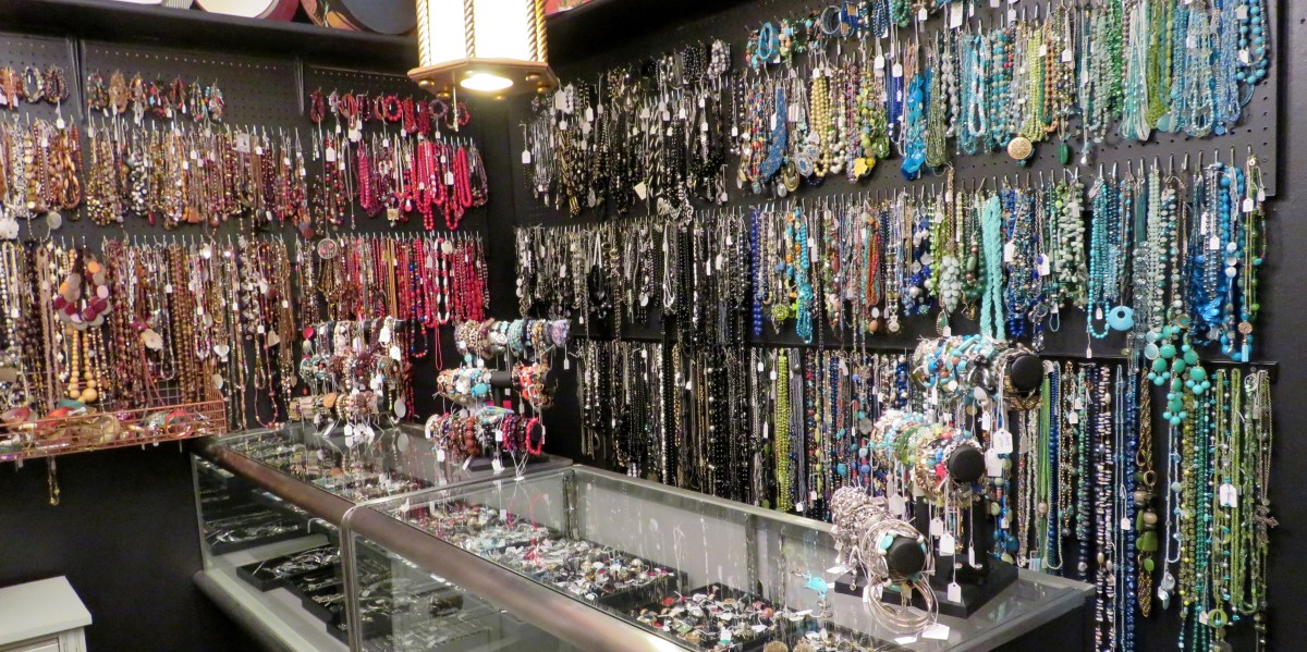 An entire room full of jewelry