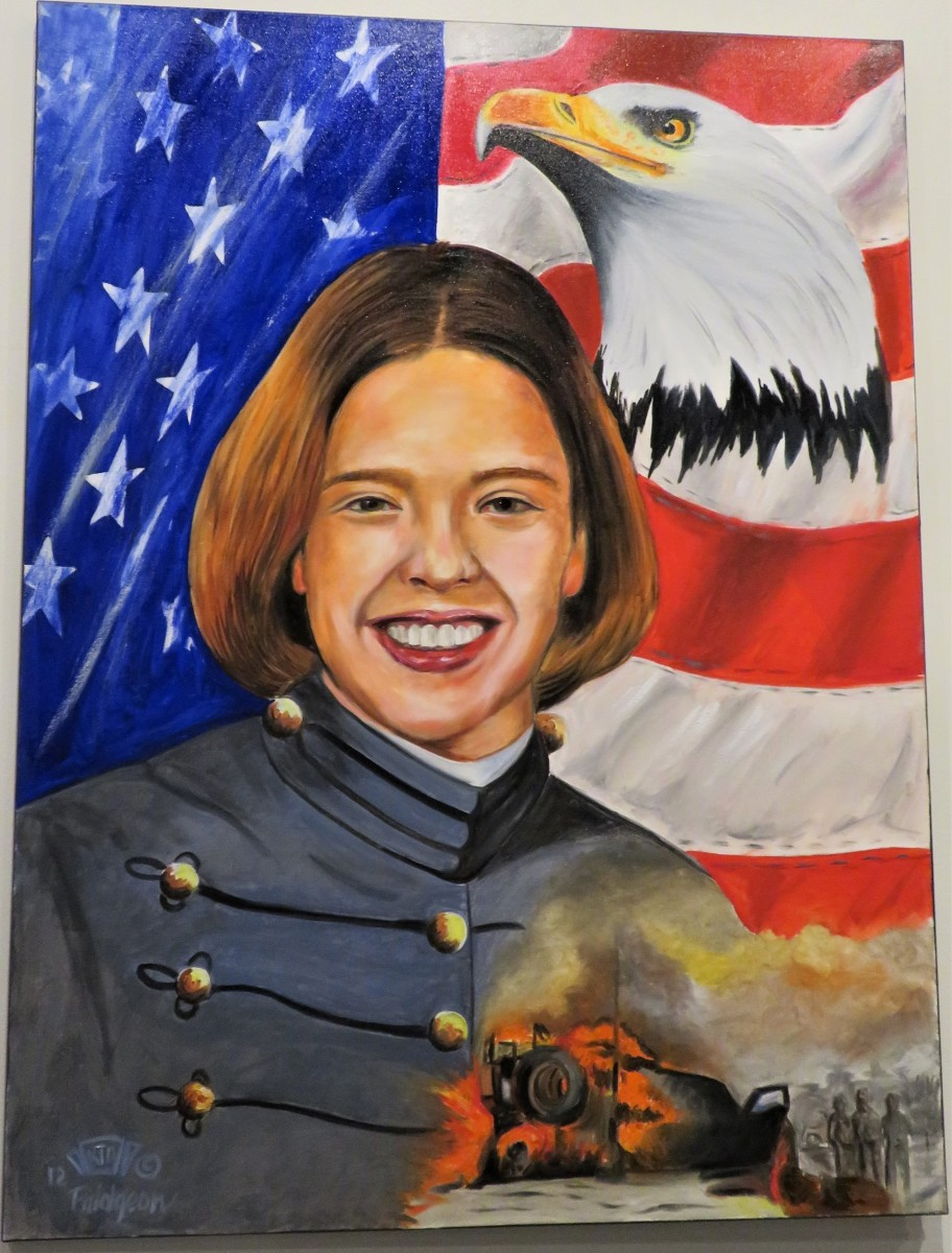 Painted by Ken Pridgeon Sr.: First Lt. Laura M. Walker from Fort Bliss, TX. She served in Operation Enduring Freedom and was KIA on 08-18-05.