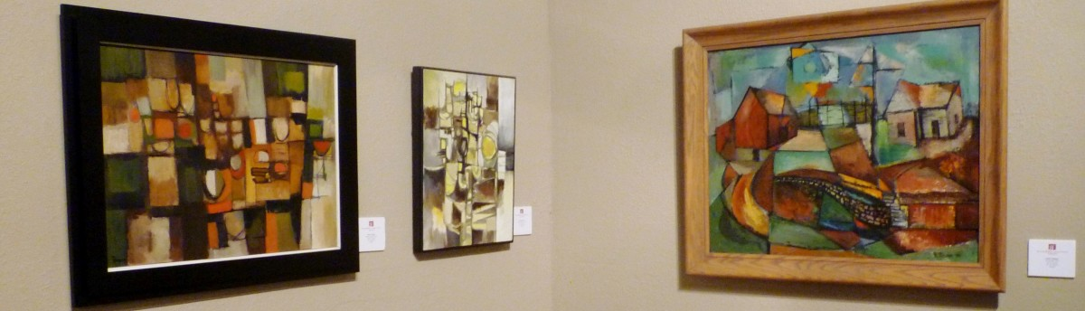 Art titled Shapes of the City, 1962 - Yellow Abstract, 1962 & Landscape, 1956 by Robert Rogan