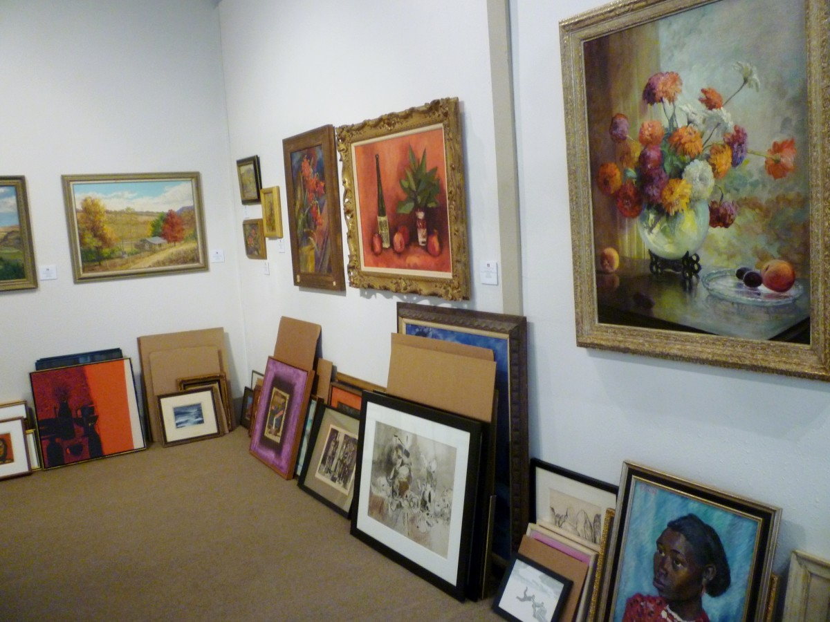 Back room of the gallery
