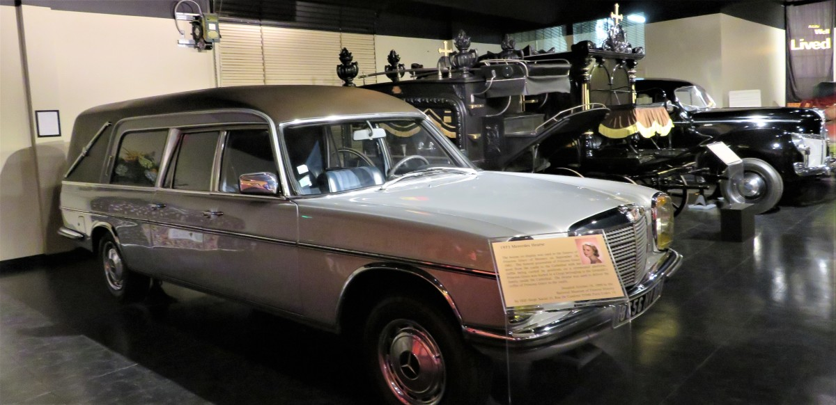 1973 Mercedes Hearse in Foreground