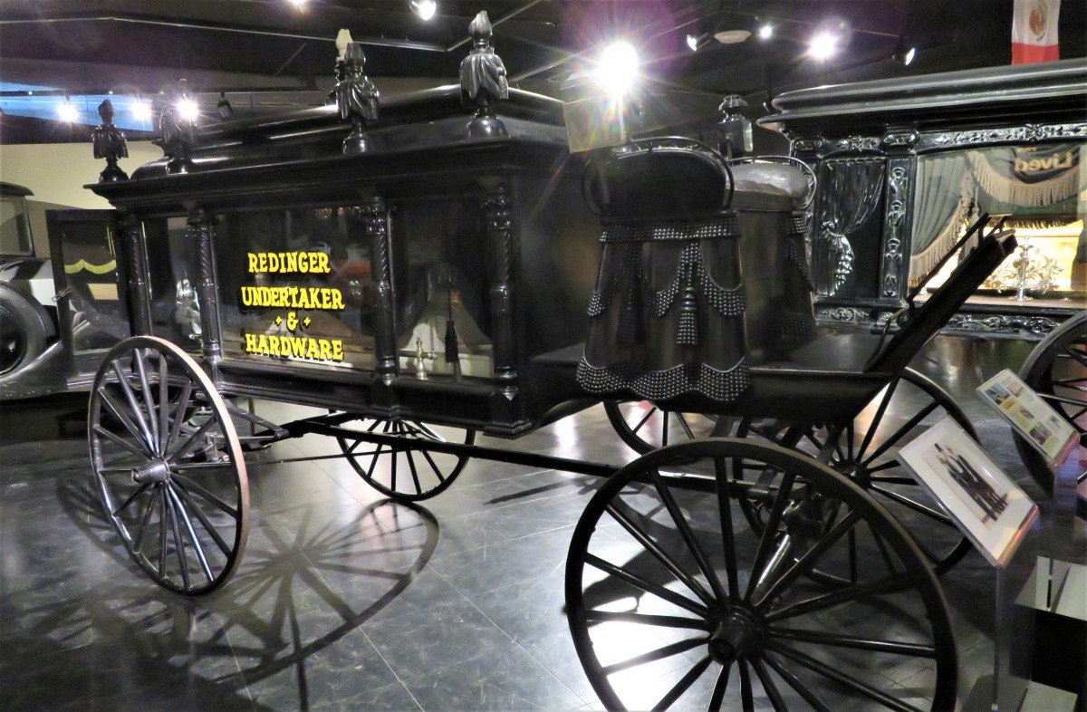 Old-time Hearse in the National Museum of Funeral History
