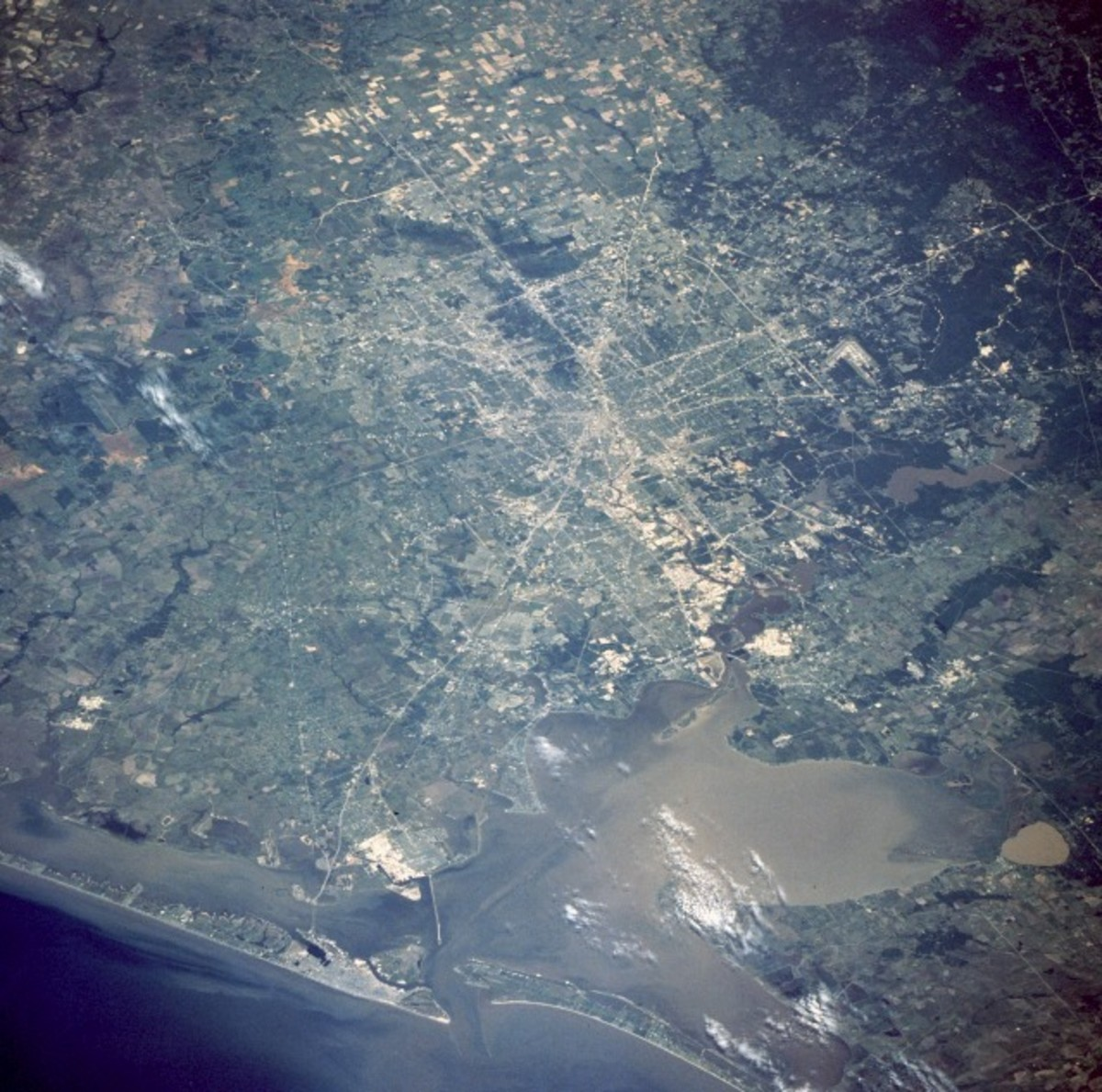 Houston as viewed from outer space