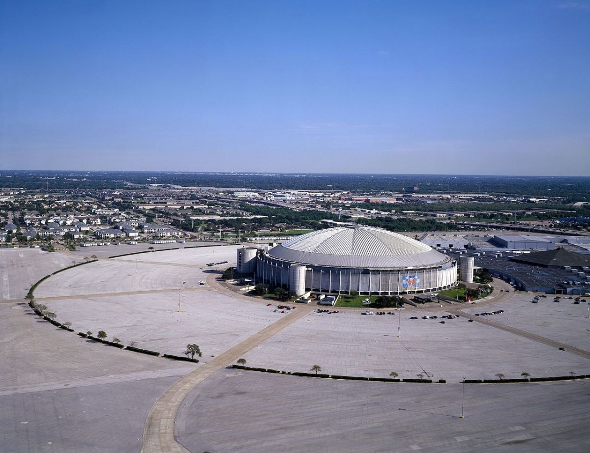 The Astrodome aerial view