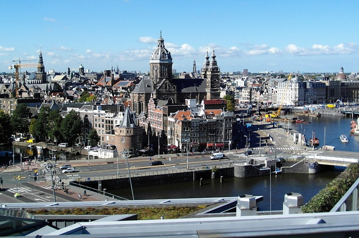 Amsterdam from the Skylounge.
